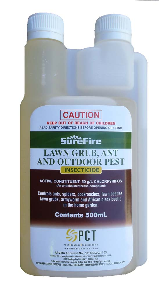 Surefire Lawn Grub, Ant & Outdoor Pest Insecticide 500mL