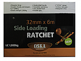 Oska Side Loading Ratchet Strap 32mm x 6m