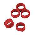 Spiral Leg Bands –Red Pack of 20