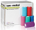 Bare+Medical Cohesive Bandages 10cm x 4.7m (Stretched) 36Pack