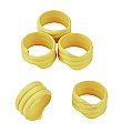 Spiral Leg Bands – Yellow Pack of 20
