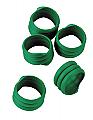 Spiral Leg Bands – Green Pack of 20