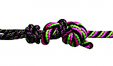 Pro Choice Rope Halter with 10' Lead Pink/Lime