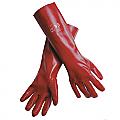 Red PVC Chemical Gloves 45cm