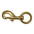 Round Eye Swivel Hook – Brass (Heavy Duty)