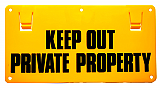 Thunderbird 'Keep Out Private Property' Sign EF15A