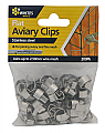 Whites Wires Flat Aviary Clips 200 Pack