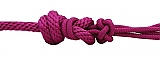 Pro Choice Rope Halter with 10' Lead Raspberry